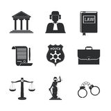 Law and Justice icon design Stock Photo