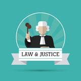 Law and Justice icon design Royalty Free Stock Images