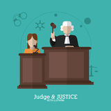 Law and Justice icon design Stock Photos