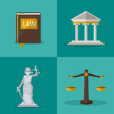 Law and Justice icon design Royalty Free Stock Photo