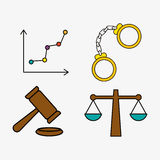 Law and justice icon design, vector illustration Royalty Free Stock Photos