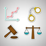 Law and justice icon design, vector illustration Royalty Free Stock Photography
