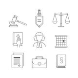Law and justice icon set suitable for info graphics, websites an Royalty Free Stock Photo