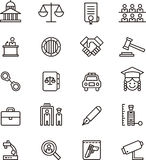 Law & Justice icons Royalty Free Stock Photo