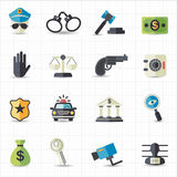 Law and Justice icons. This image is a vector illustration Stock Image