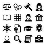 Law and Justice Icons Set. Vector Stock Photography