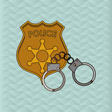Law and Justice sign design, vector illustration Stock Photography