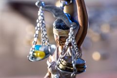 Law and justice theme. Close up Royalty Free Stock Photography