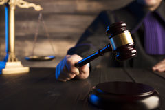 Law and justice theme. Royalty Free Stock Photos