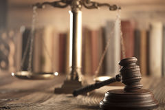 Law and justice theme. Stock Images