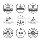 Law labels set Stock Photography