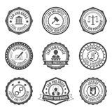 Law labels set Royalty Free Stock Photo