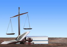 Law. Yer business judgement judgment white books Royalty Free Stock Photo