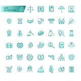 Law and lawyer services vector icons set for web design, mobile app, graphic design royalty free illustration