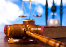 Law, legal code and scales of justice.  Stock Photo