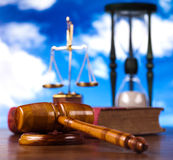 Law, legal code and scales of justice.  Stock Photos
