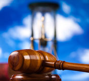 Law, legal code and scales of justice.  Royalty Free Stock Image