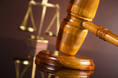 Law, legal code and scales of justice concept Royalty Free Stock Photography
