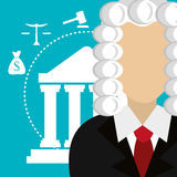 Law and legal justice graphic Stock Image