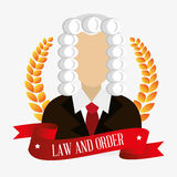 Law and legal justice graphic Royalty Free Stock Photos