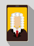Law and legal justice graphic Royalty Free Stock Photography