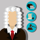 Law and legal justice graphic Royalty Free Stock Images