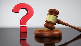 Law And Legal Questions Concept stock illustration