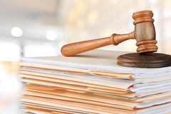 Law. Legislation Document Legal System Justice Gavel Stack stock photo