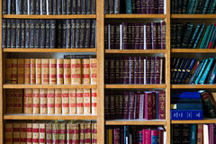 Law Library. A set of law books on a library shelf Royalty Free Stock Photo
