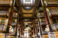 Law Library in the Iowa State Capitol. Law Library Inside the Des Moines Iowa State Capital building with ornate architecture and painted ceilings royalty free stock photo