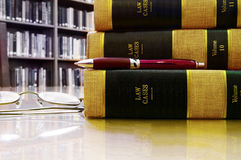 Law library - legal books Royalty Free Stock Images