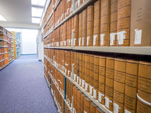 Law Library stacks Stock Photo