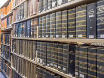 Law Library stacks Stock Images