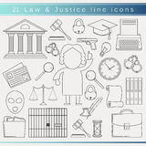 Law line icons Stock Photo