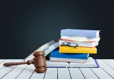 Law. Litigation book legal enforcement family justice royalty free stock image