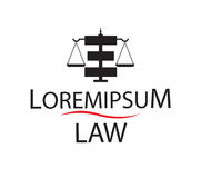 Law Logo Concept Design Stock Photo