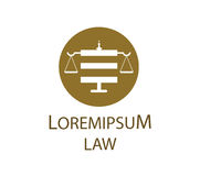 Law Logo Concept Design Stock Image