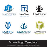 Law Logo Template Design Vector Royalty Free Stock Photography