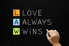 LAW - Love Always Wins Stock Photo