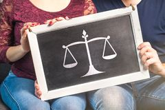 Law, marriage, relationship, legal advice. royalty free stock photography