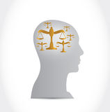 Law on my mind concept illustration design Stock Photo
