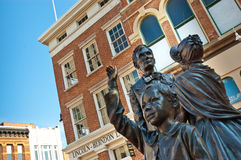 The law office of Abraham Lincoln. A statue of Abraham Lincoln and his family in front of his old law offices in Springfield, Illinois Stock Images