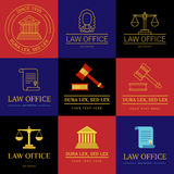 Law office logo collection Royalty Free Stock Photo