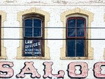 Law Office in the Old West. Law Office above an Old West Saloon royalty free stock photos