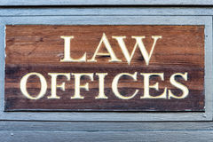 Law offices sign Stock Images
