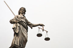 Law and Order. It's statue on the roof of the Dublin castle Stock Image