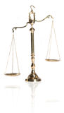 Law and Order. Wooden justice gavel and block with brass Royalty Free Stock Photo