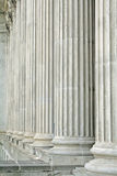 Law and Order. Pillars in the Supreme Court Stock Photo