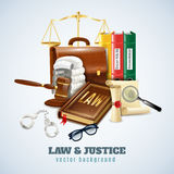 Law And Order Composition Background Poster Royalty Free Stock Photo