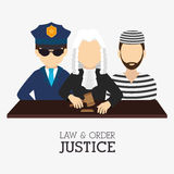 Law and order design Stock Photo